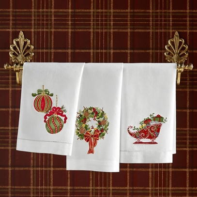 Festive Holiday Guest Towels