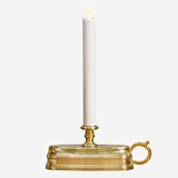 Flameless Brass Candle Lamp