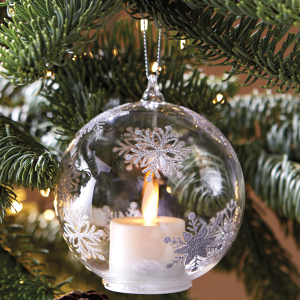 Flickering Candle Light Ornament