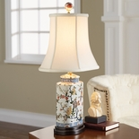 Floral Canister Lamp