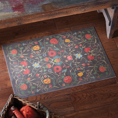 Floral Vinyl Floorcloth