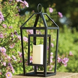 Framed Lantern with LED Candle