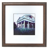 Framed Monticello with Flowers Print