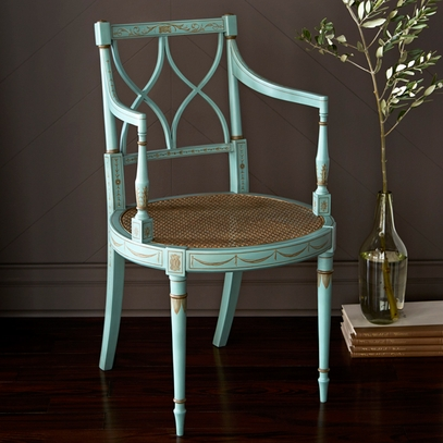 French Blue Arm Chair