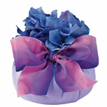Lavender Scent Pouf - Silk-Wrapped