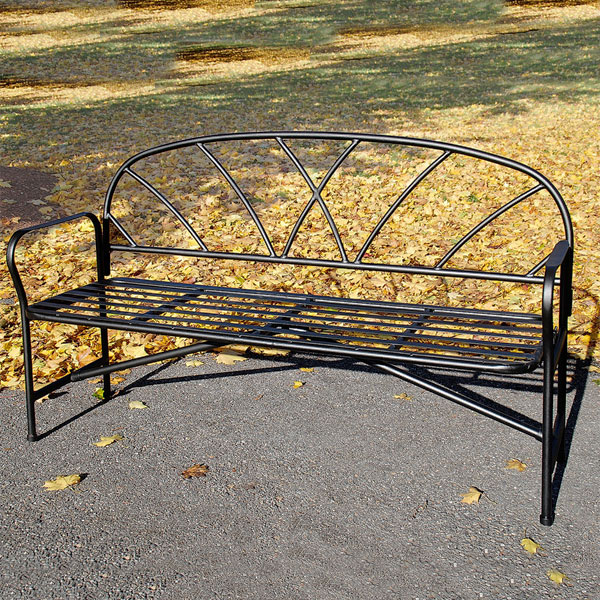 fretwork wrought iron bench seat australia for sale