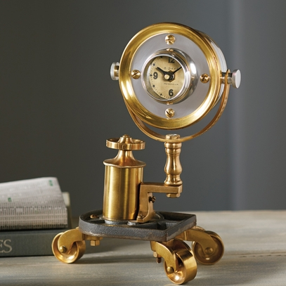 Brass Gadget Table Clock
