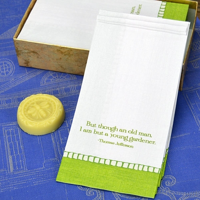 Gardening Quote Guest Towels