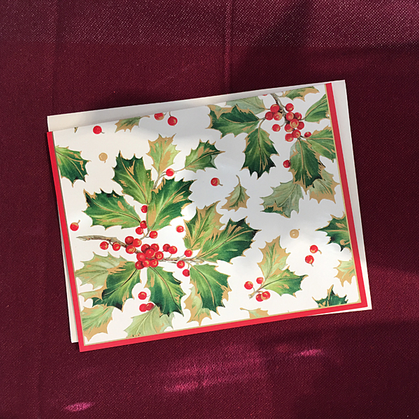 Gilded holly boxed greeting cards m4hsunfo