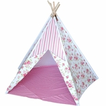 Girls 7� Cotton Canvas Teepee Tent