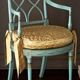 Gold Silk Chair Cushion