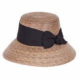 Grosgrain Ribbon Straw Hat
