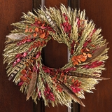 "Harvest Feather Wreath 16""D"
