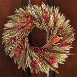 Harvest Feather Wreath