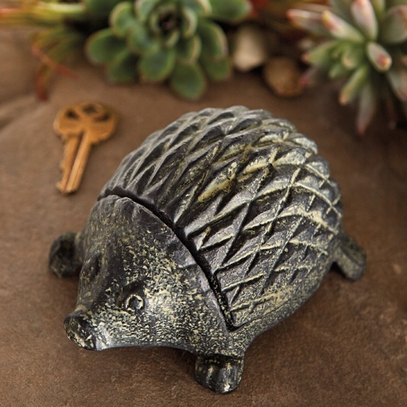 Hedgehog Cast Iron Key Keeper