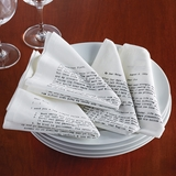 Historic Letters of Advice Cotton Napkins
