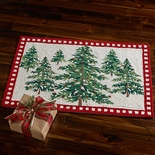 Holiday Woodland Tree Wool Rug