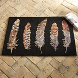 Feather Hooked Wool Rug
