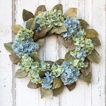 "Hydrangea and Magnolia Wreath 24""D"