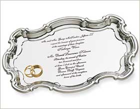 Polished Pewter Invitation Tray