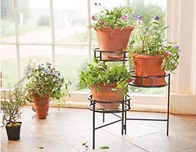 Folding Metal Plant Stand