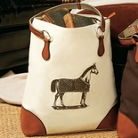 Ivory Equestrian Tote