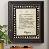 Jefferson's Canons of Conduct Framed Print