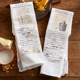 Jefferson's Recipe Cotton Dish Towel Set