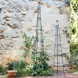 "Large Wrought Iron Garden Obelisk 85""H"