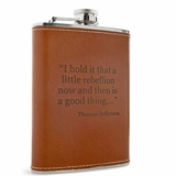 Leather Rebellion Flask