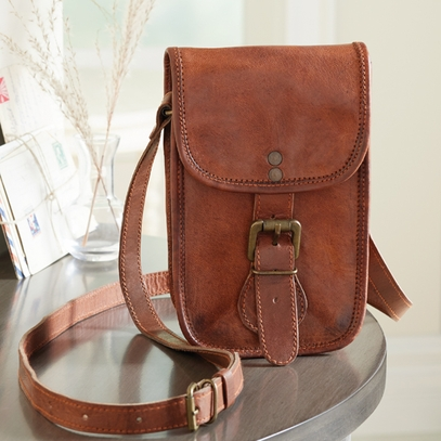 Leather Saddle Bag