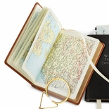 Leather World Atlas Travel Book