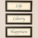 Life Liberty Happiness Plaques