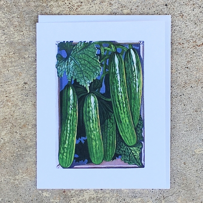 Long Green Improved Cucumber Notecard