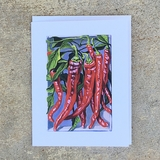 Long Red Cayenne Pepper Notecard