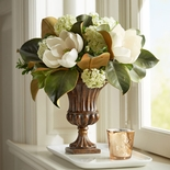 Magnolia Arrangement in Fluted Urn