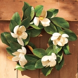 "Magnolia Wreath 16""D"