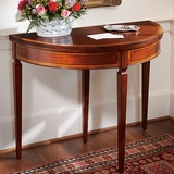 Mahogany Demi-Lune Card Table