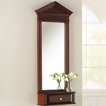 Mahogany Pediment Mirror