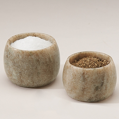 Marble Salt and Pepper Cellars