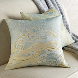 Marbleized Cotton Duck Down Pillow