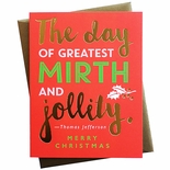 Mirth & Jollity Christmas Card