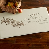 Monticello Coffee Quote Comfort Mat
