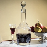 Monticello Hand-Blown Glass Decanter