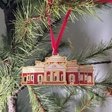 Monticello Etched Ornament