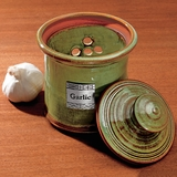 Monticello Stoneware Garlic Pot