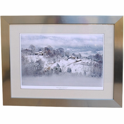 Monticello in the Snow Framed Print
