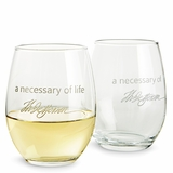 "Monticello ""Necessary"" Wine Glass"
