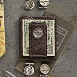 Monticello Nickel Card Wallet and Money Clip