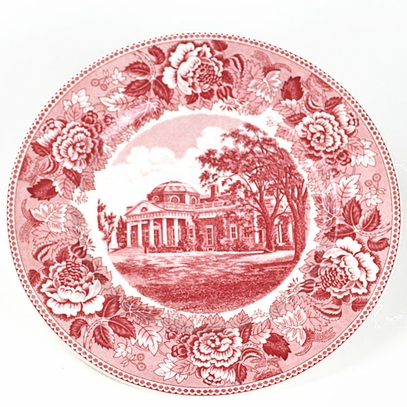 Monticello Pink Staffordshire Plate